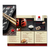 Asian Restaurant Take-out Menu Template