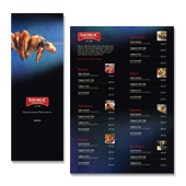 Bar & Grill Restaurant Menu Template