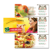 Pizza Pizzeria Restaurant Take-out Tri Fold Brochure Template