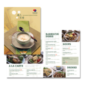 Korean Restaurant Menu Template