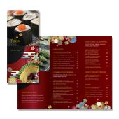 Japanese Restaurant Take-out Menu Template
