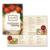 Vegetarian Restaurant Menu Template