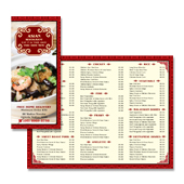 Asian Restaurant Take Away Menu Template