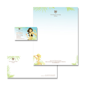 Slimming Therapy Centre Stationery Kits Template