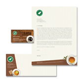 Coffee Shop Stationery Kits Template
