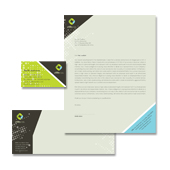 Utility & Energy Company Stationery Kits Template