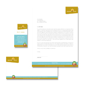 Organic Food Market Stationery Kits Template