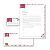 Decorative Bakery Stationery Kits Template