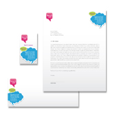 Speech & Language Pathology Stationery Kits Template