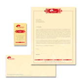 Chinese Restaurant Stationery Kits Template