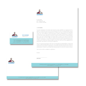 Laundry & Dry Cleaners Stationery Kits Template