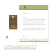 Natural Spa & Massage Stationery Kits Template