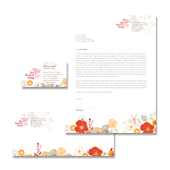 Florist Shop Stationery Kits Template