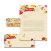 Pizza Restaurant Stationery Kits Template