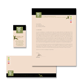 Chinese Tea House Stationery Kits Template