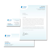 Cleaning Services Stationery Kits Template
