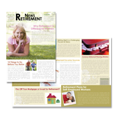 Retirement Investment Services Newsletter Template