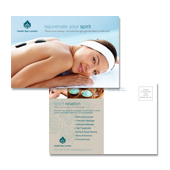 Day Spa & Beauty Salon Postcard Template