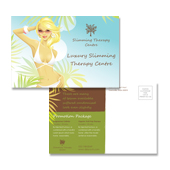 Modern Slimming Therapy Centre Postcard Template