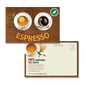 Coffee Shop Postcard Template