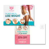 Weight Loss Center Postcard Template