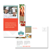 Culinary Institute Postcard Template