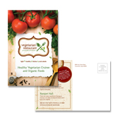 Vegetarian Restaurant Postcard Template