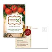 Vegetarian Restaurant Postcard Template