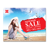 Summer Beach Sale Poster Template