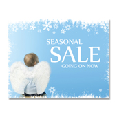 Angel Christmas Sale Poster Template
