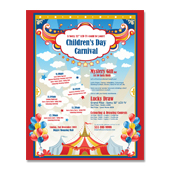 Kids Carnival Day Poster Template