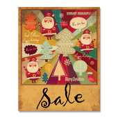 Retro Xmas Sale Poster Template