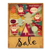 Retro Xmas Sale Poster Template