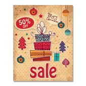 Christmas Gift Sale Poster Template