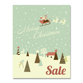 Christmas Deer Sale Poster Template