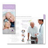 Elder Care & Nursing Home Tri Fold Brochure Template