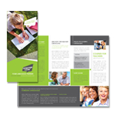 Language Centre Tri Fold Brochure Template