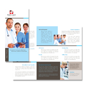 Nursing School Tri Fold Brochure Template