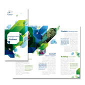 Technology Consulting Tri Fold Brochure Template