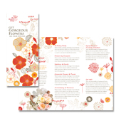 Florist Shop Tri Fold Brochure Template