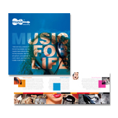 Music School Tri Fold Brochure Template