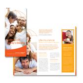 Insurance Agent Tri Fold Brochure Template