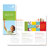 Pediatrician & Child Care Tri Fold Brochure Template