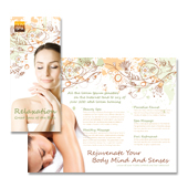 Health & Beauty Spa Tri Fold Brochure Template