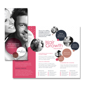 Hair Loss Treatment Centre Tri Fold Brochure Template
