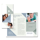 Male Medical Clinic Tri Fold Brochure Template