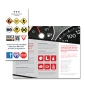 Driver Education Centre Tri Fold Brochure Template