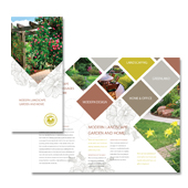 Modern Landscaping Tri Fold Brochure Template