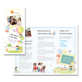 Preschool Tri Fold Brochure Template