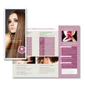 Hair & Nail Spa Salon Tri Fold Brochure Template